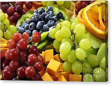 Cheese Canvas Print - Fresh Fruits by Elena Elisseeva