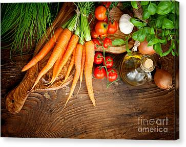 Fresh Vegetables Canvas Print by Mythja  Photography