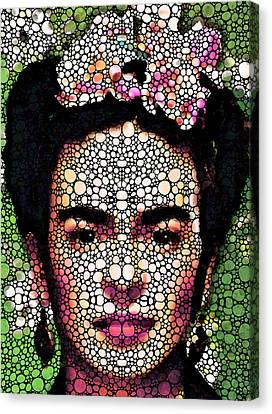 Frida Kahlo Art - Define Beauty Canvas Print by Sharon Cummings