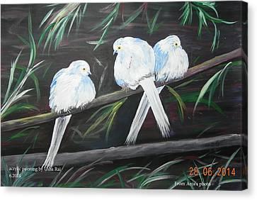 Friendship Canvas Print by Usha Rai