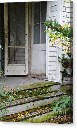 Front Door Of Abandoned House Canvas Print by Jill Battaglia