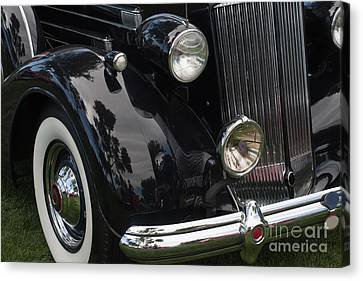 Canvas Print featuring the photograph Front Side Of A Classic Car by Gunter Nezhoda