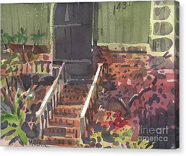 Front Steps Canvas Print by Donald Maier