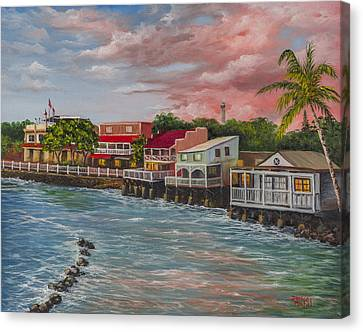 Front Street Lahaina Canvas Print by Darice Machel McGuire