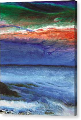 Frosty Wind Canvas Print by The Art of Marsha Charlebois