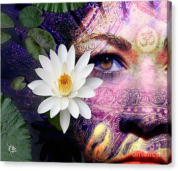 Full Moon Lakshmi Canvas Print by Christopher Beikmann