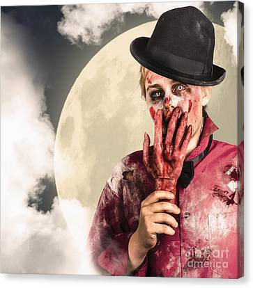Full Moon On A Scary Halloween Night Canvas Print