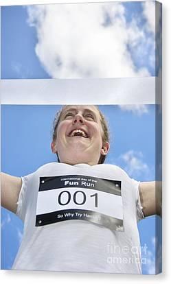 Exhilarating Canvas Print - Fun Run Champion by Jorgo Photography - Wall Art Gallery