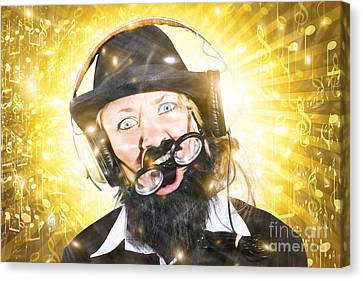 Exhilarating Canvas Print - Funny Male Sound Engineer. Mad About Music by Jorgo Photography - Wall Art Gallery