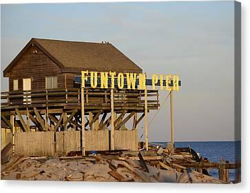 Funtown Pier Canvas Print