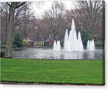 Furman Fountain Canvas Print by Larry Bishop