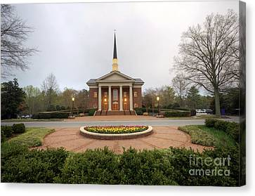 Furman University Charles Daniel Chapel   Greenville Sc Canvas Print