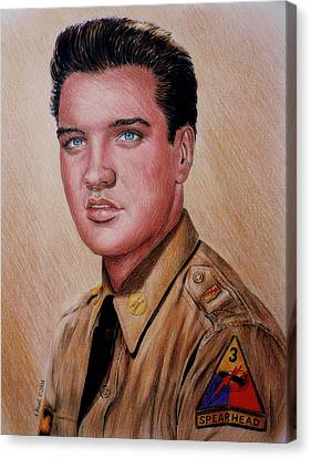 G I Elvis  Canvas Print by Andrew Read