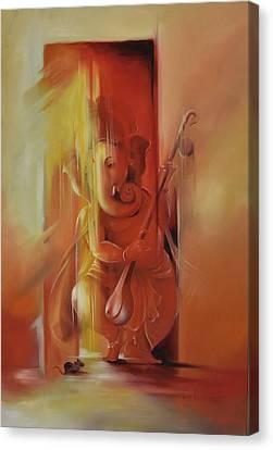 Ganesha Pitambara Canvas Print by Durshit Bhaskar