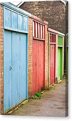 Garage Doors Canvas Print by Tom Gowanlock