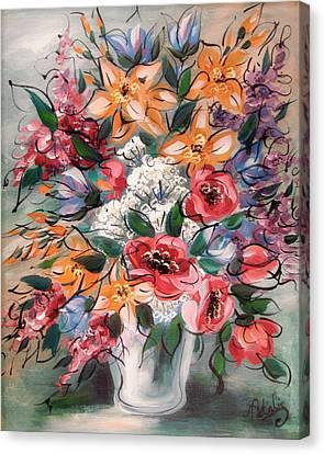 Garden Flowers Canvas Print by Natalie Holland