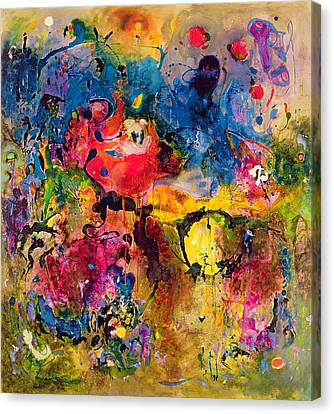 Garden Of Heavenly And Earthly Delights Canvas Print by Jane Deakin
