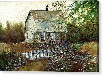 Garden Shed Canvas Print by Steven Schultz