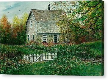Gardening Shed Canvas Print by Steven Schultz