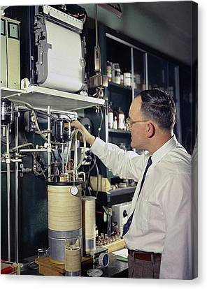 Gas Chromatography Food Research Canvas Print by Agricultural Research Service/us Department Of Agriculture