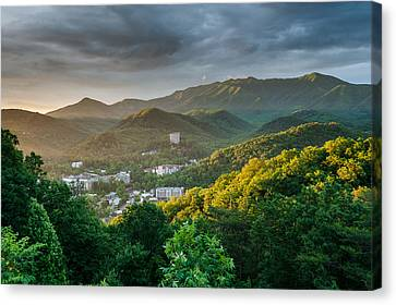 Gatlinburg Tennessee Great Smoky Mountain Sunrise Canvas Print by Mark VanDyke