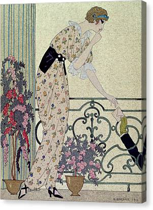 Gazette Du Bon Ton Canvas Print by Georges Barbier