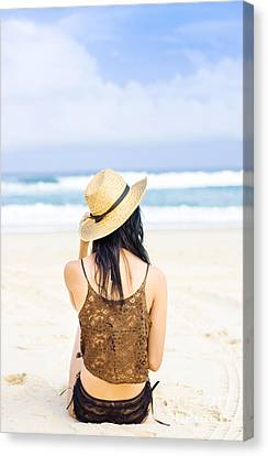 Gazing Out At The Ocean Canvas Print