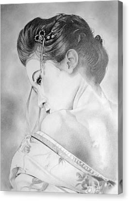 Geisha  Canvas Print by Melanie Spencer