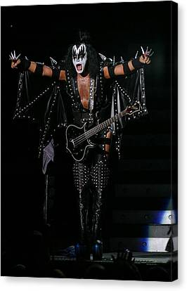 Canvas Print featuring the photograph Gene Simmons - Kiss by Don Olea