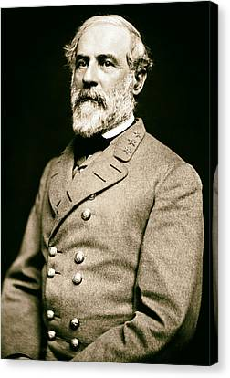 Analog Canvas Print - General Robert E Lee 1862 by Mountain Dreams