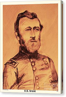 Canvas Print featuring the painting General Us Grant by Eric  Schiabor