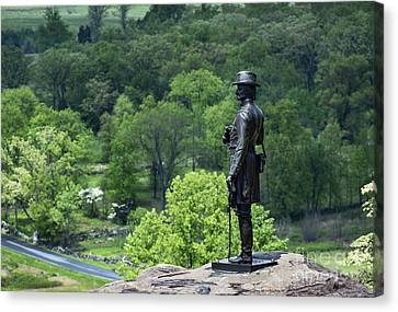 General Warren At Little Round Top Canvas Print by John Greim