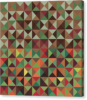 Canvas Print featuring the digital art Geometric Pattern by Mike Taylor