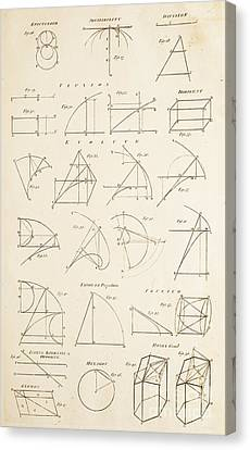 Geometrical Constructions And Principles Canvas Print by David Parker
