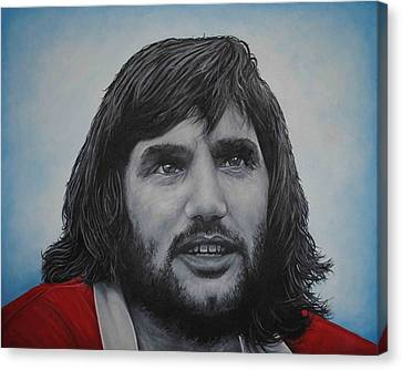 Canvas Print featuring the painting George Best 'belfast Boy' by David Dunne