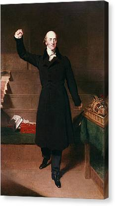 Orator Canvas Print - George Canning (1770-1827) by Granger