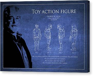 George Lucas Patent 1979 Canvas Print by Aged Pixel