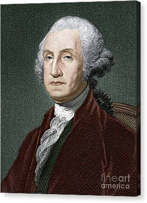 George Washington, First Us President Canvas Print by Sheila Terry
