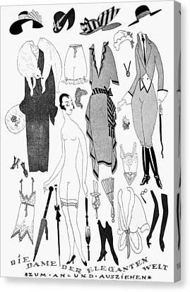 German Fashion, 1921 Canvas Print by Granger