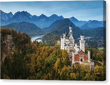 Neuschwanstein art Germany canvas Germany wall art Germany d\u00e9cor Castle Germany Landscape home art Neuschwanstein Bavaria print Castle art