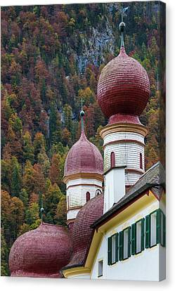 Germany, Bavaria, Konigsee, St Canvas Print by Walter Bibikow