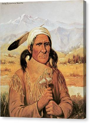 Geronimo Canvas Print by Henry Cross