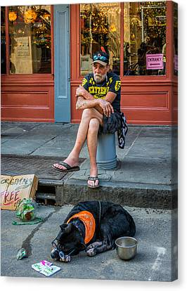 Gettin' By In New Orleans Canvas Print by Steve Harrington
