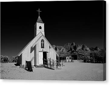 Ghost Town Church Canvas Print by Wendell Thompson