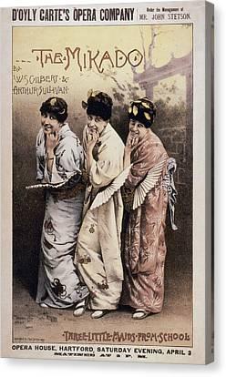 Gilbert & Sullivan Mikado Canvas Print by Granger