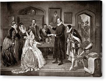 Gilbert Shows Electricity To Elizabeth I Canvas Print by Science Photo Library