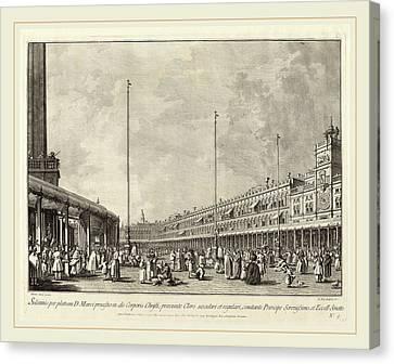 San Marco Canvas Print - Giovanni Battista Brustolon After Canaletto Italian by Litz Collection