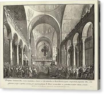 San Marco Canvas Print - Giovanni Battista Brustolon After Canaletto Italian by Quint Lox