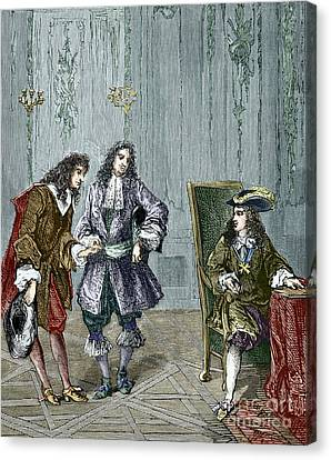 Giovanni Cassini And King Louis Xiv Canvas Print