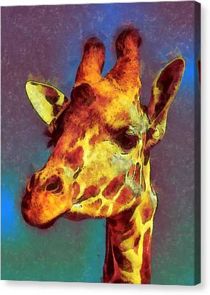 Giraffe Abstract Canvas Print